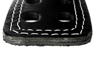 Пояс кожаный атлетический 60/120 мм, карабин, двухслойный, фото 3