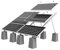 Готовая монтажная конструкция Walraven для 10-и солнечных батарей 10х1 (земля/плоская кровля)