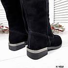 Зимние женские сапоги черного цвета, натуральная замша ( в наличии и под заказ 7-16 дней), фото 2