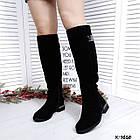 Зимние женские сапоги черного цвета, натуральная замша ( в наличии и под заказ 7-16 дней), фото 4