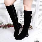Зимние женские сапоги черного цвета, натуральная замша ( в наличии и под заказ 7-16 дней), фото 6