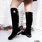 Зимние женские сапоги черного цвета, натуральная замша ( в наличии и под заказ 7-16 дней), фото 7