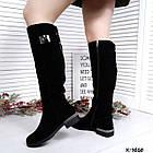 Зимние женские сапоги черного цвета, натуральная замша ( в наличии и под заказ 7-16 дней), фото 8