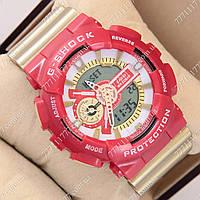 Часы мужские наручные Casio G-Shock GA-110 Gold-Red