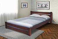 Кровать двухспальная деревянная Глория 160-200 см (темный орех)