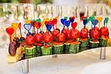 Шпажки 40 штук для канапе пластикові «Серце», фото 3