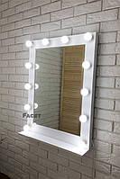 "Зеркало с подсветкой ""Мики"" с полкой, фото 1"