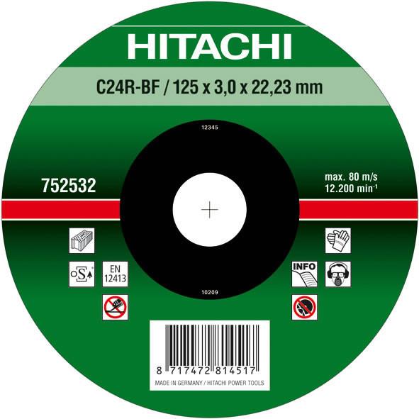 Диск отрезной для кирпича и бетона 125х3,0х22,2 Hitachi / HiKOKI 752532