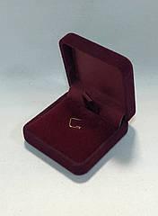 Футляр для подвески бордовый бархатный 0318