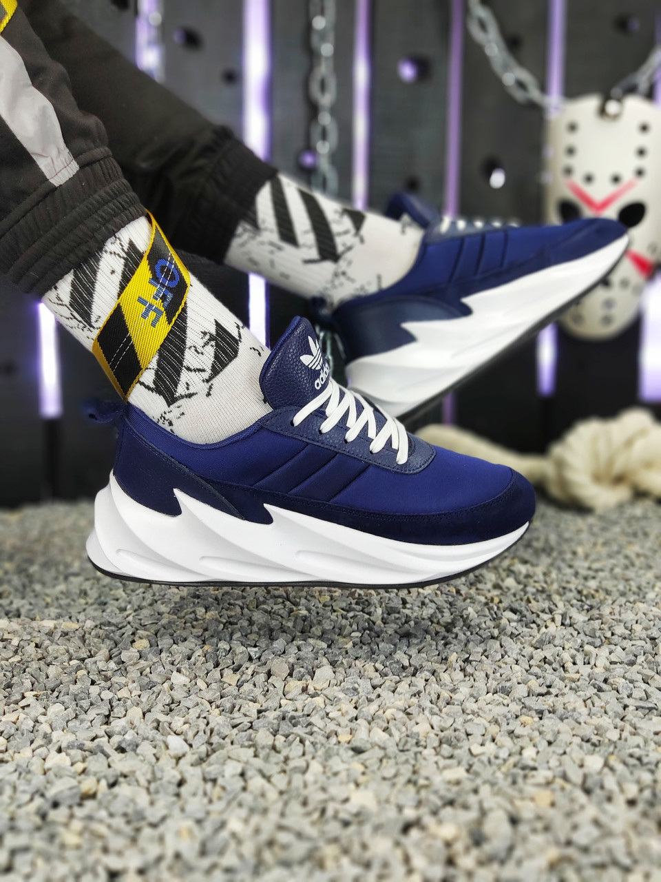 Мужские кроссовки Adidas Sharks Blue/White. [Размеры в наличии: 42,43,44,45]
