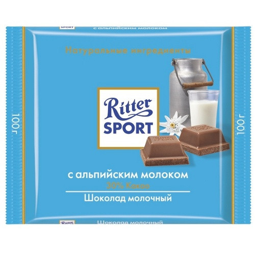 Ritter Sport Alpenmilch Kakao 30% 100 g