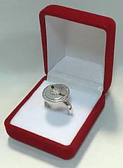 Футляр классический для кольца бархатный красный 220/к