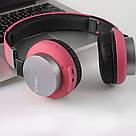 Наушники с Bluetooth GORSUN GS-E89 беспроводные малинового цвета, фото 4