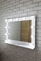 """Зеркало с подсветкой  78*62см  """"Моши"""" с полочкой"""
