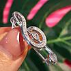 Скрипковий ключ срібна брошка - Брошка Ноти срібло - Срібна брошка Музика, фото 4