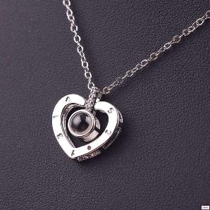 Подарунок на день закоханих Кулон I love you срібло на 100 мовах світу