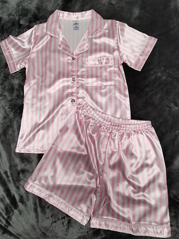Атласная пижама 88-8, фото 2