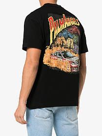 Футболка чорна Palm Angels car crash • Палм Анджелс футболка