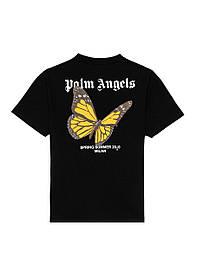 Футболка чорна Palm Angels Butterfly S/S • Палм Анджелс футболка