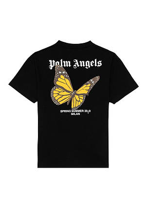 Футболка чорна Palm Angels Butterfly S/S • Палм Анджелс футболка, фото 2