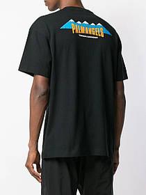 Футболка чорна Palm Angels Mountain • Палм Анджелс футболка