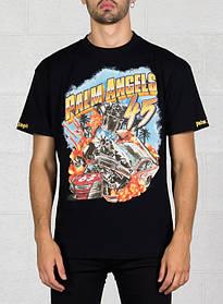 Футболка чорна Palm Angels 45 Car Crash • Палм Анджелс футболка