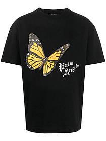 Футболка чорна Palm Angels B Batterfly • Палм Анджелс футболка