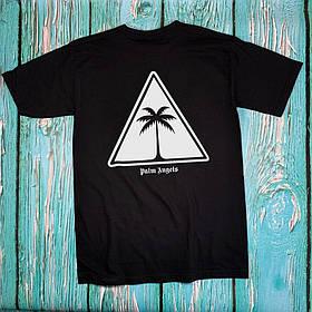 Футболка чёрная Palm Angels Tringle • Палм Анджелс футболка
