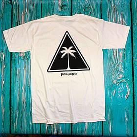 Футболка біла Palm Angels tringle • Палм Анджелс футболка