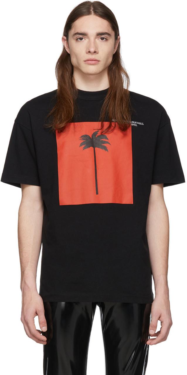 Футболка чорна Palm Angels palm • Палм Анджелс футболка
