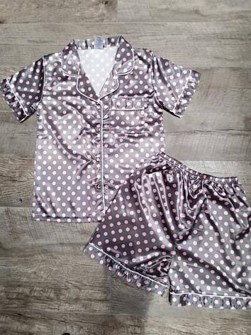 Атласная пижама 88-10, фото 2