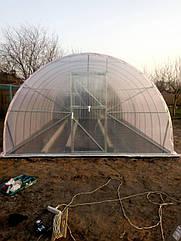 Теплиця Комбі 4х10 UF - плівка 150 мкм+торці полікарбонат 4 мм