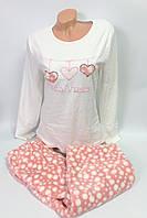 17623 Теплая пижама женская Polkan
