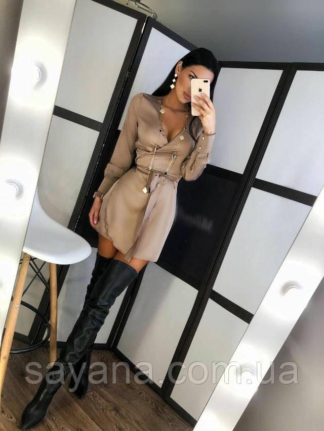 женское шелковое платье