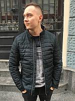 Мужская весенняя куртка ветровка демисезонная короткая молодежная стильная на синтепоне