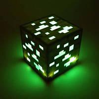 Светильник Изумруд Minecraft. Ночник Майнкрафт.