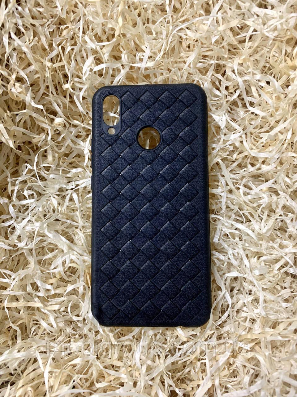 """Чехол """"Кожаное Плетение"""" для Huawei Nova 3i, Black"""