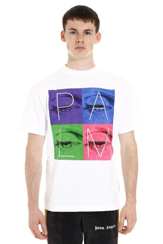 Футболка белая Palm Angels eyes • Палм Анджелс футболка