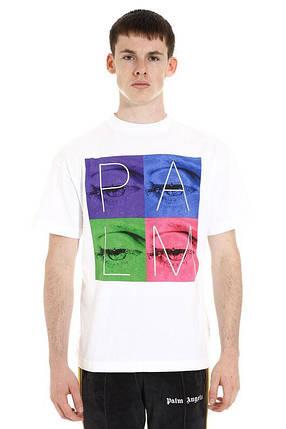 Футболка белая Palm Angels eyes • Палм Анджелс футболка, фото 2