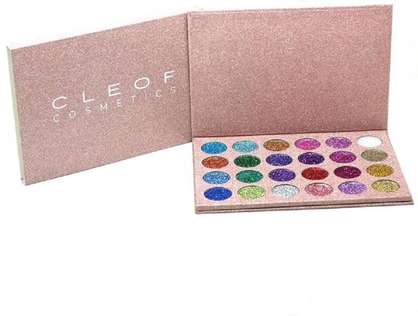 Палетка глітерів Cleof Cosmetics 24 Colors Glitter Palette