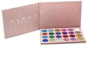 Палетка глиттеров Cleof Cosmetics 24 Colors Glitter Palette