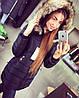 Женская демисезонная куртка (черная, изумрудная)