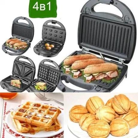 Вафельниця, горішниця, гриль, бутербродниця 4 в 1 Livstar LSU-1219, 800 Вт