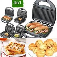 Вафельниця, горішниця, гриль, бутербродниця 4 в 1 Livstar LSU-1219, 800 Вт, фото 1