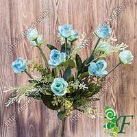 Букет роза бутон голубой
