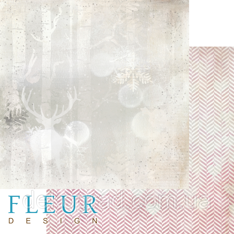 """Лист бумаги для скрапбукинга """"Лесной олень"""", коллекция """"Волшебный лес"""", 30,5х30,5 см, плотность 190 гр."""