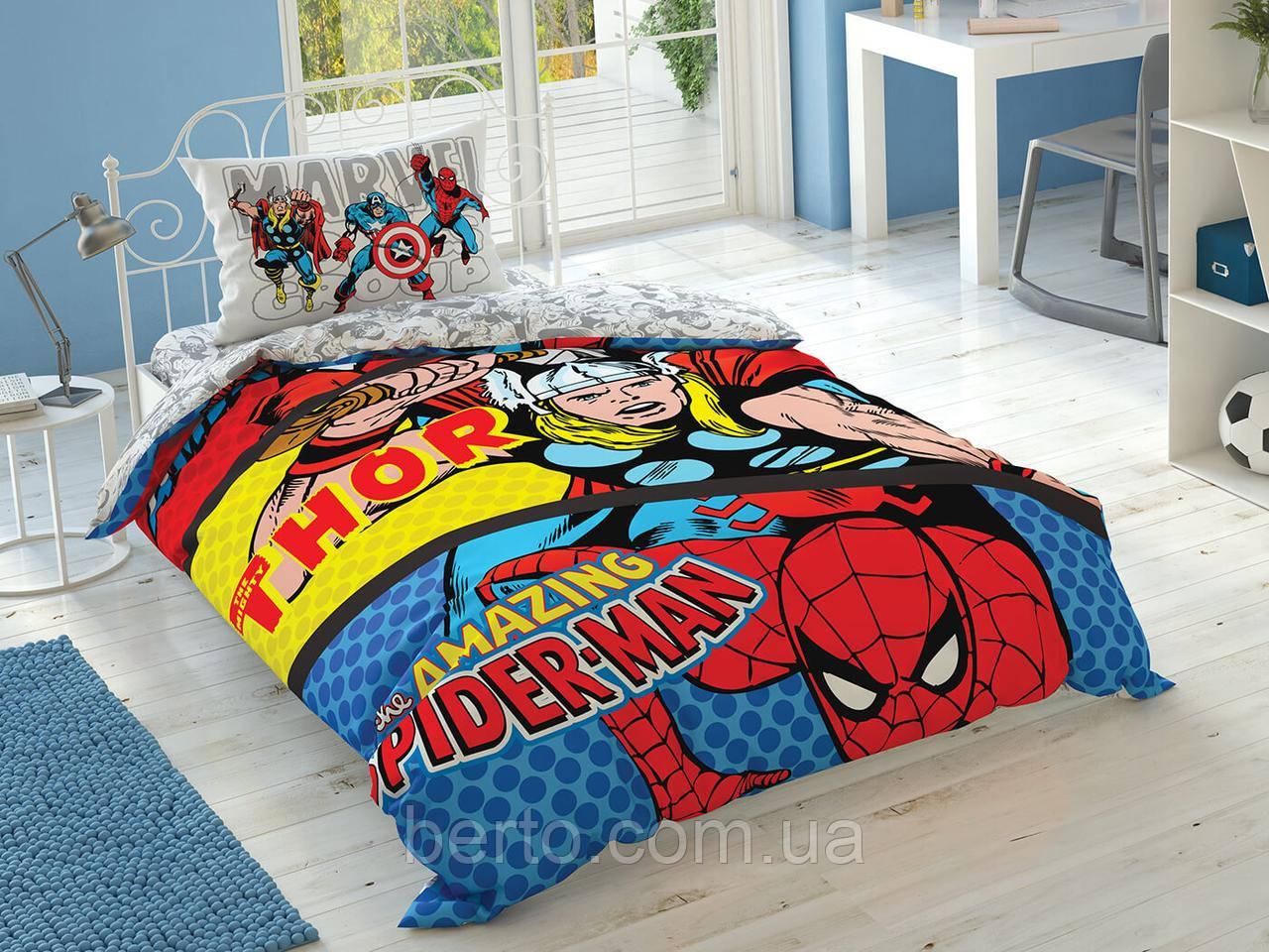 Постельное белье на резинке Tac Disney - Marvel Comics подростковое