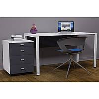 Письменный стол с комодом в стиле LOFT (NS-970000519), вис-750мм, шир-650мм, довж-1200мм,