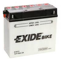 Аккумулятор Exide 12V 20AH/210A (12Y16A-3A)