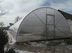 Теплица Комби  5х8 UF - пленка 150 мкм + торцы поликарбонат 4мм